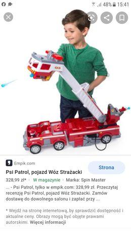 wóz strażacki pojazd psi patrol xxl