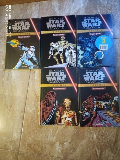 Star Wars komiksy 5 sztuk za 45  zł stan idealny