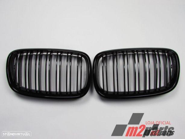 Grelhas Duplas Frente BMW X5 (E70)/BMW X6 (E71, E72) Preto Brilhante Novo/ ABS