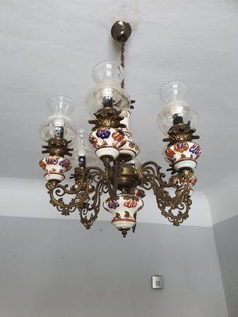 Żyrandol porcelanoway