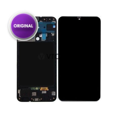 Ecrã com Frame Samsung Galaxy A71 - Preto - Service Pack (Original)