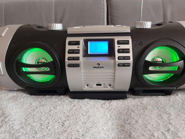 Boombox z bluetooth 3.0 CD MP3 USB FM LED Radio Auna Soundmaster