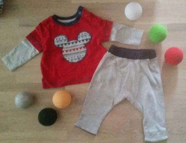 68 MOTHERCARE MIKI MAMAS PAPAS komplet spodnie koszulka ubranko ŚWIĘTA