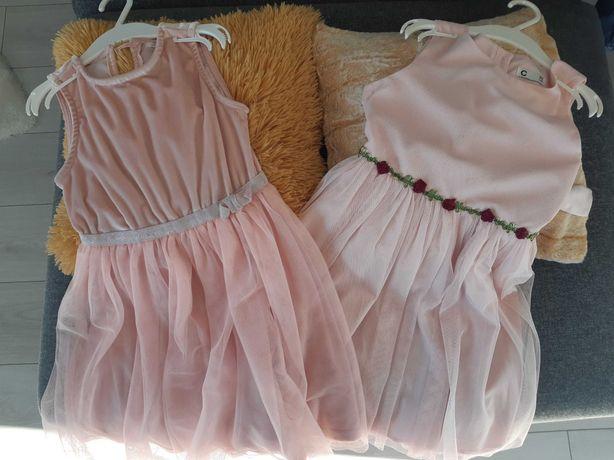 Sukienka 122 zestaw 2szt.
