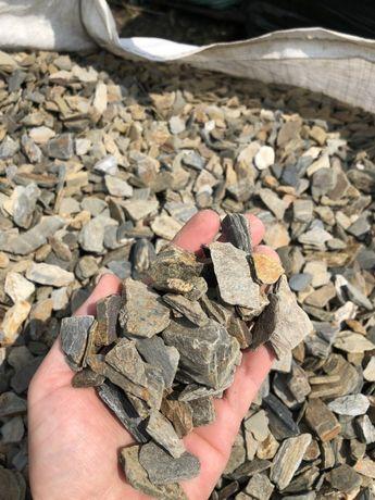 Kora łupkowa szarogłaz - kamień ogrodowy, skład