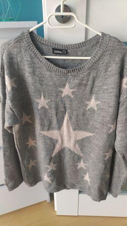 Dłuższy sweter firmy Janina rozmiar 42