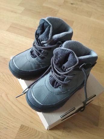 Buty zimowe 22 11,5 cm jak NOWE wodoodporne dziecięce trzewiki śniegow