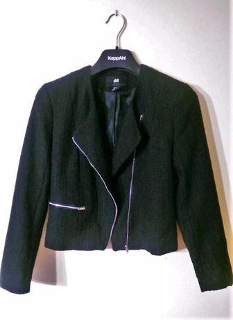Żakiet H&M, czarny, na suwak, 45zł, rozmiar 40