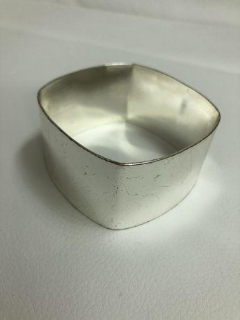 Bransoletka srebrna szerokość 3,5cm gruba średnica 7cm