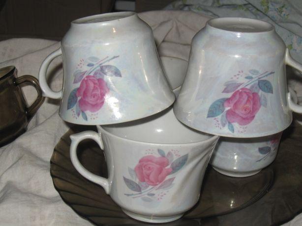 чашки чайные 250млл. с перламутром. 5штук