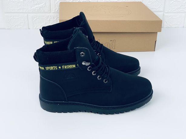 Ботинки мужские демисезон ботинки черевики осінні нубук