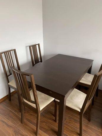 Sprzedam stół z 5 krzesłami IKEA
