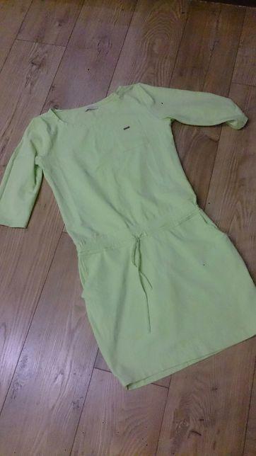 Limonkowa sukienka s/m