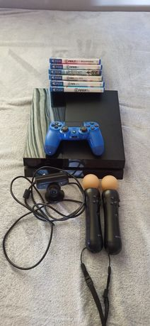 PS4 500GB + pad, 5 gier, PS Move