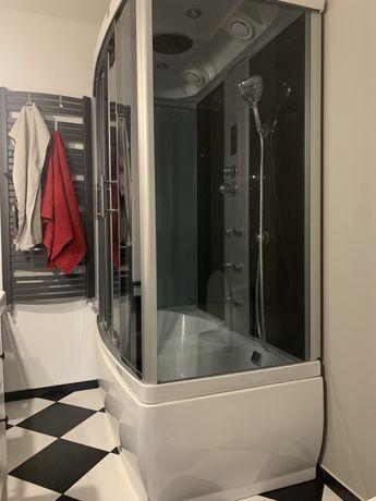 Kabina prysznicowa Kerra zamknieta głęboki brodzik wanna masaż radio