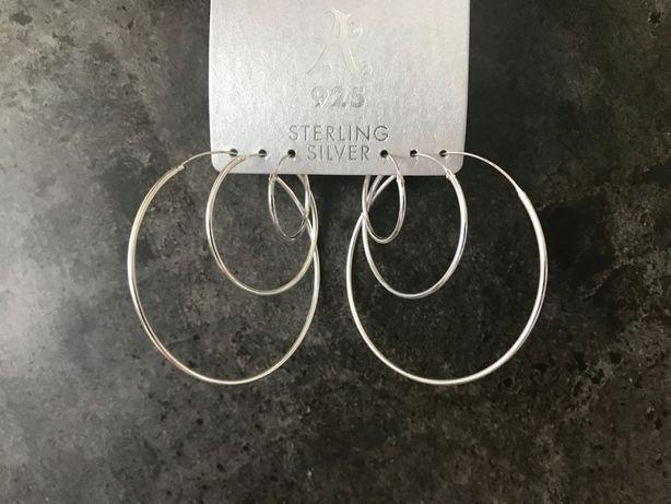 """Серебряные серьги-кольца """"Accessorize"""", набор"""