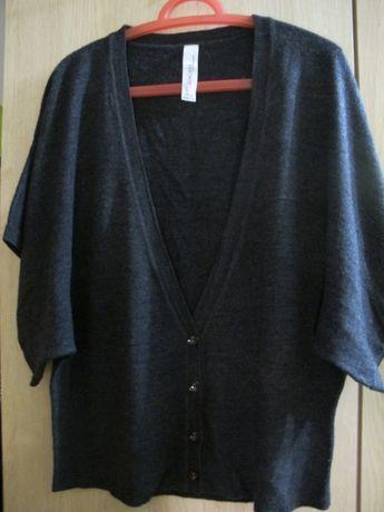 kamizelka 46 szara damska kimonowa miękka Zingara akryl nietoperz
