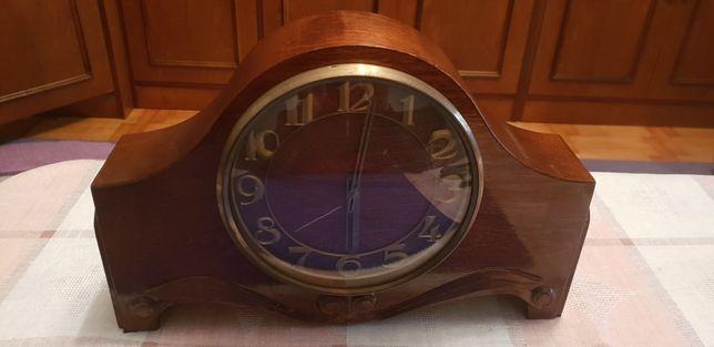 Zegar drewniany zegar kominkowy VESNA zegar pokojowy zabytek retro !