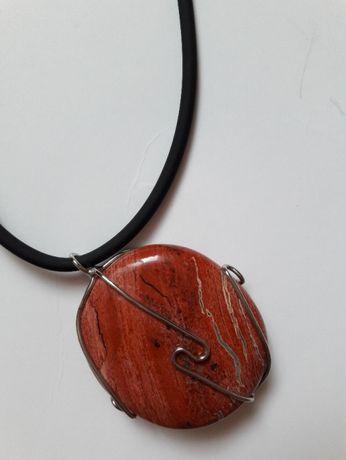 Naszyjnik jaspis czerwony