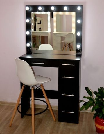 Макияжное зеркало с подсветкой гримерный визажный стол под барный стул