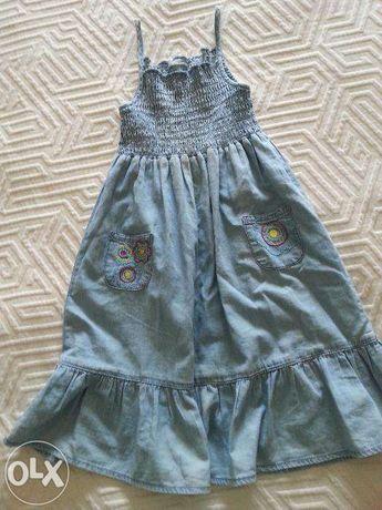 vestido de ganga T 8