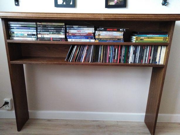 Konsola dębowa,  na książki, płyty, do salonu, przedpokoju, sypialni