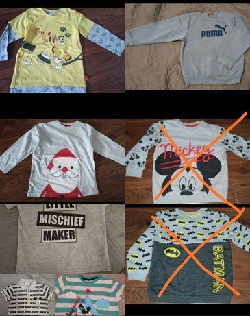 Zestaw koszulek, bluz dla chłopca r. 98