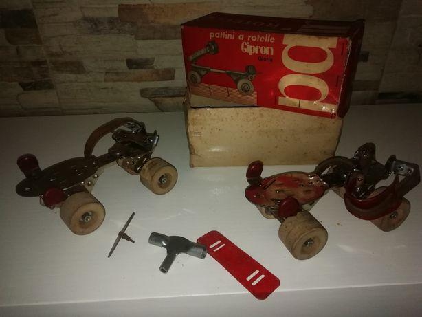 Patins antigos anos 60 em caixa original nunca usados