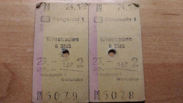 Bilet kolejowy Niemiecki RFN 1979 PKP