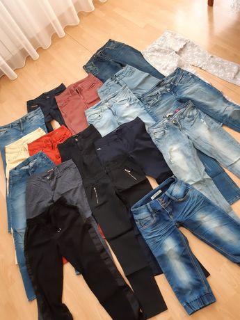 18 par spodni paka ubrań 36 38 S M jeansy 2 szt spódnic