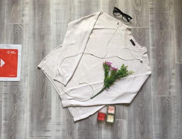 Свитер белый Cedar Wood State, размер S М, котон шерсть кофта худи