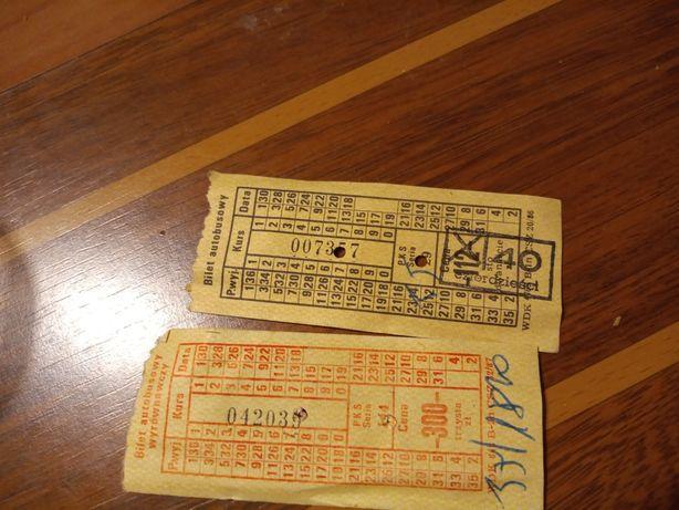 Bilety autobusowe PRL