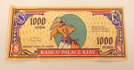Preco fixo! Nota antiga e rara da Palace Kiay (discoteca)