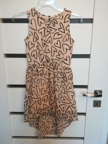 H&M r.134,asymetryczna sukienka