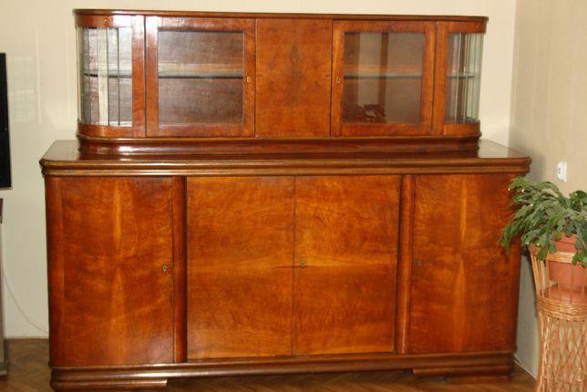 Zestaw drewnianych mebli lata 50-te kredens bufet,stół i krzesła