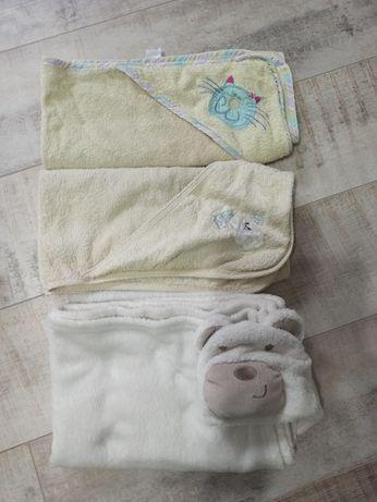 Zestaw 3 ręczników z kapturkiem do kąpieli