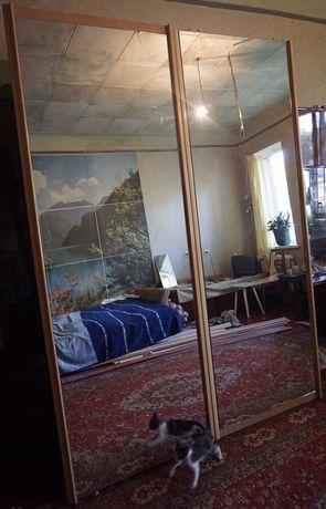 Двери зеркальные фасад для шкафа купе и гардеробной