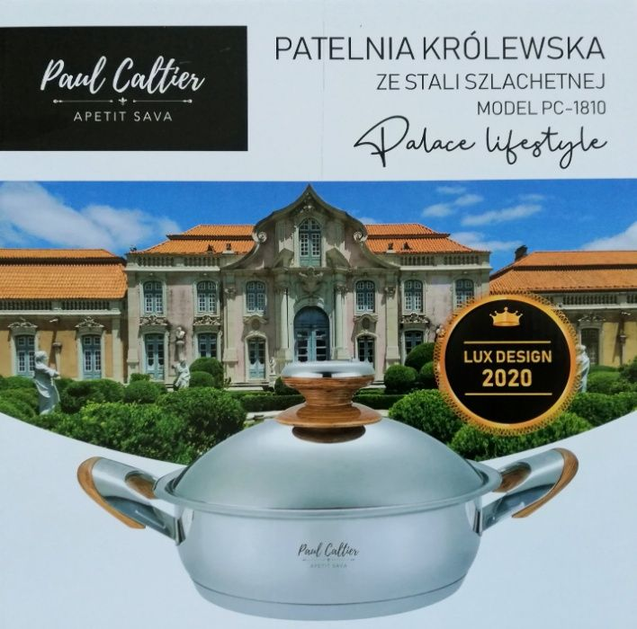 Patelnia Królewska stal szlachetna Paul Caltier Sosnowiec - image 1
