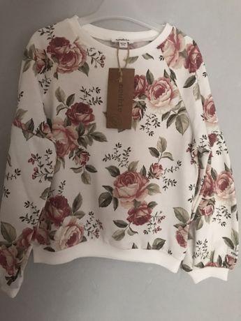 Bluza newbie nowa piękna róże 98 104