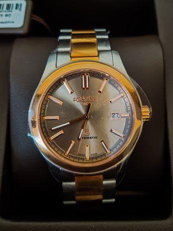 Zegarek męski Roamer Rotodate kolor srebrno-złoty automat