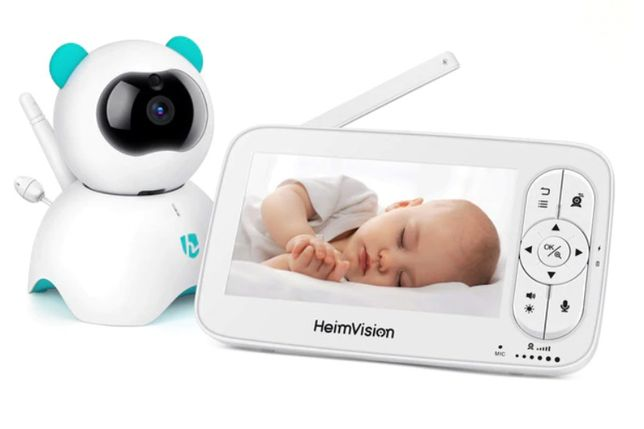 """Monitor / Intercomunicador de bebé - ecrã 5"""" - câmara de ajuste remoto"""