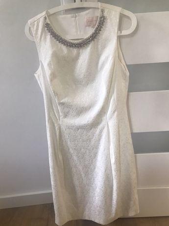 Sukienka 38 /40 stan bardzo dobry . Biała wesele slub świeta