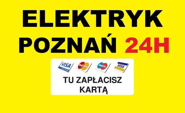 ELEKTRYK POZNAŃ 24h Awarie - Usługi od 49zł - Udzielam Gwarancję SEP