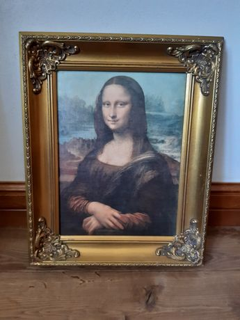 Obraz Mona Lisa w drewnianej ramie