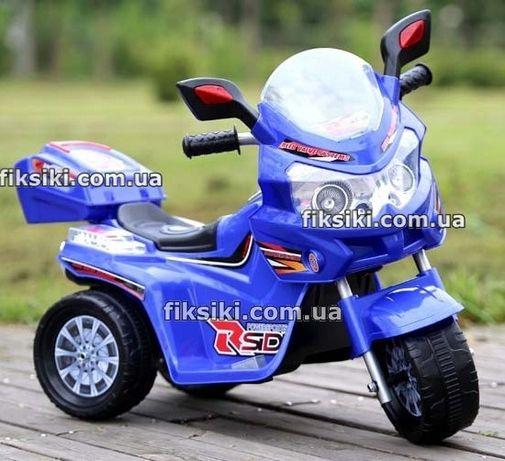 Детский мотоцикл электромобиль T-729 BLUE , Дитячий електромобiль