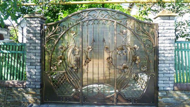 Ворота кованные, заборы, решетки на окна, козырьки