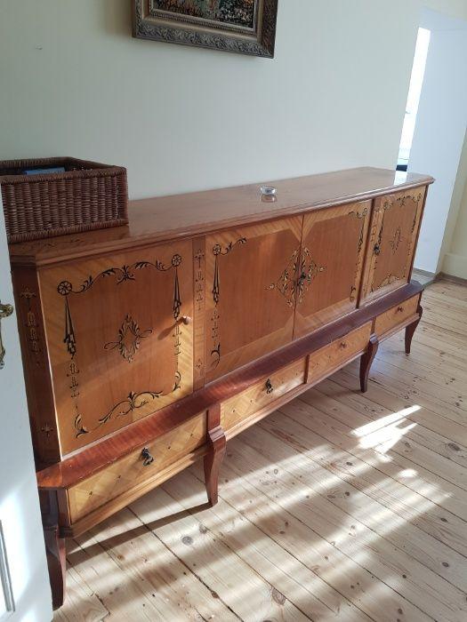 Stare piękne meble - gablotka szklana, komoda i piękny stół Szczecin - image 1