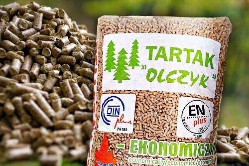 Dostawa GRATIS pellet drzewny OLCZYK w workach 15kg lub Pelleton Lava