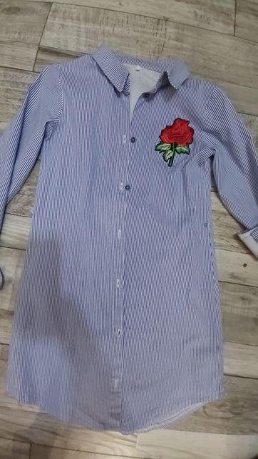 Платье рубаха на девочку 9-10 лет