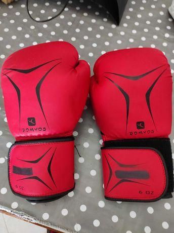 Luvasde boxe principiante vermelho 10 oz